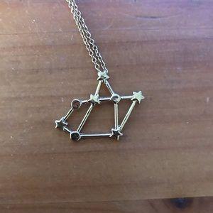 Jewelry - Gold toned Sagittarius constellation necklace